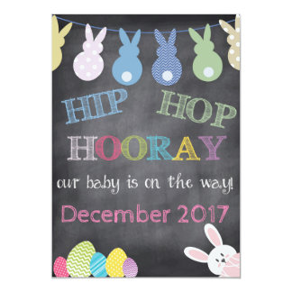 Hip Hop Hooray Easter Pregnancy Announcement