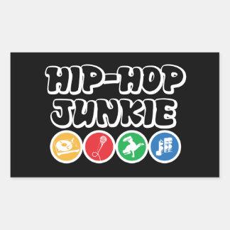 Hip Hop Junkie Rectangular Sticker