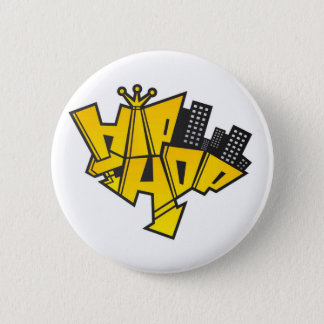 Hip-hop logo 6 cm round badge