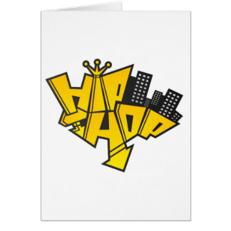 Hip-hop logo card