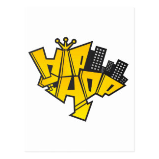 Hip-hop logo postcard