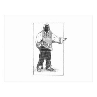 Hip-Hop Man Postcard