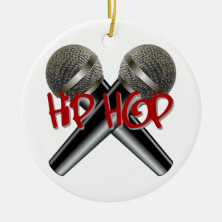 Hip Hop - mc rap dj rap turntable mic graffiti r&b Ceramic Ornament