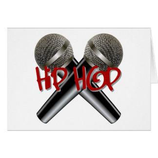 Hip Hop - mc rap dj rap turntable mic graffiti r&b Greeting Card