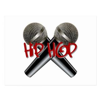 Hip Hop - mc rap dj rap turntable mic graffiti r b Post Cards