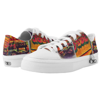 Hip hop music shoes printed shoes