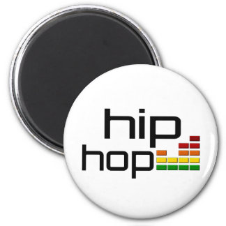 Hip Hop Music with Stereo Equalizer 6 Cm Round Magnet