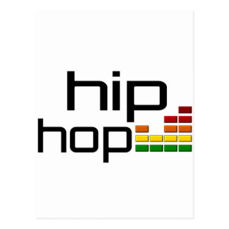 Hip Hop Music with Stereo Equalizer Postcard
