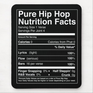 Hip Hop Nutrition Facts Mouse Pad