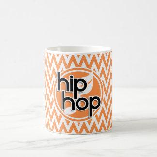 Hip Hop Orange and White Chevron Coffee Mug