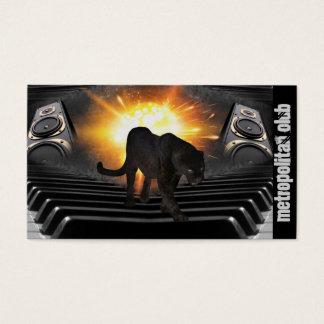 Hip hop panther flames keyboard speaker DJ Business Card