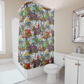 Hip Hop Pattern shower curtain