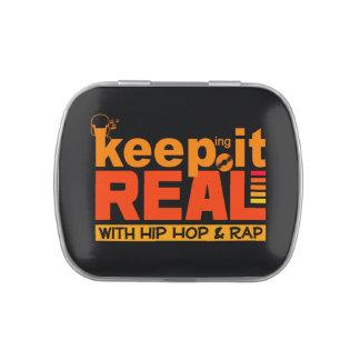 HIP HOP & RAP tins & jars Jelly Belly Candy Tin