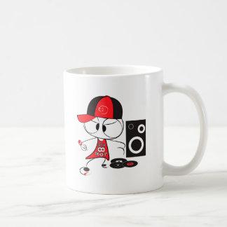 Hip hop rapper doll basic white mug