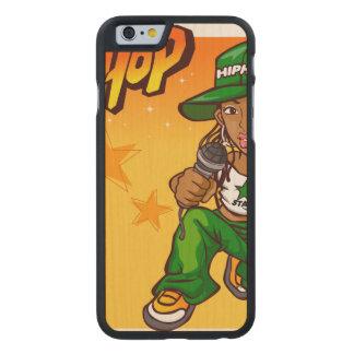 hip hop rapper girl green orange cartoon carved® maple iPhone 6 case
