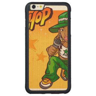 hip hop rapper girl green orange cartoon carved® maple iPhone 6 plus bumper case