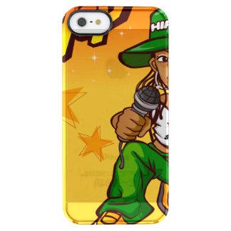 hip hop rapper girl green orange cartoon clear iPhone SE/5/5s case