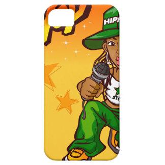 hip hop rapper girl green orange cartoon iPhone 5 cover