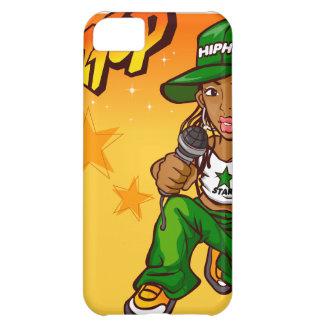 hip hop rapper girl green orange cartoon iPhone 5C case