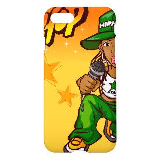 hip hop rapper girl green orange cartoon iPhone 7 case