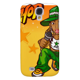 hip hop rapper girl green orange cartoon samsung galaxy s4 covers