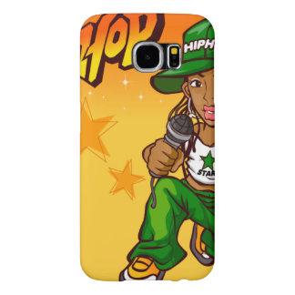 hip hop rapper girl green orange cartoon samsung galaxy s6 cases