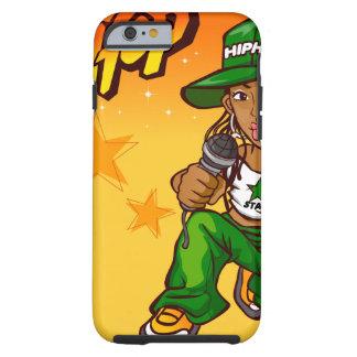 hip hop rapper girl green orange cartoon tough iPhone 6 case