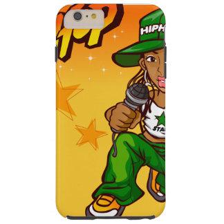 hip hop rapper girl green orange cartoon tough iPhone 6 plus case