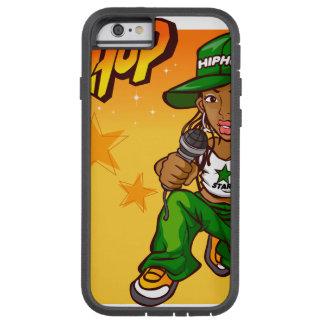hip hop rapper girl green orange cartoon tough xtreme iPhone 6 case