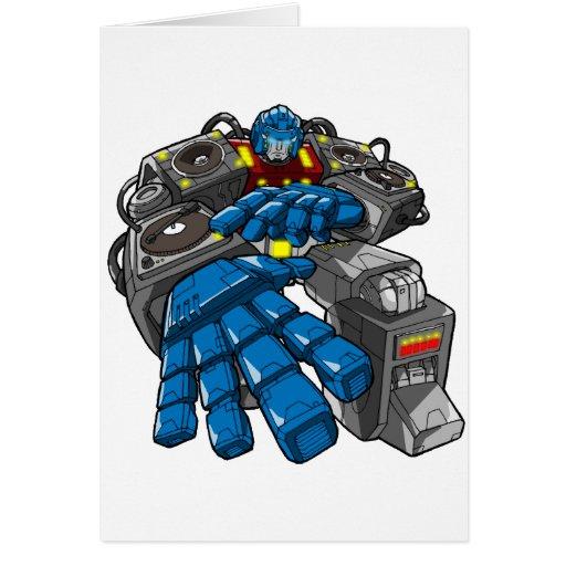Hip Hop Robot Card