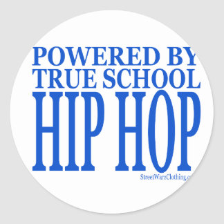 HIP HOP ROUND STICKER
