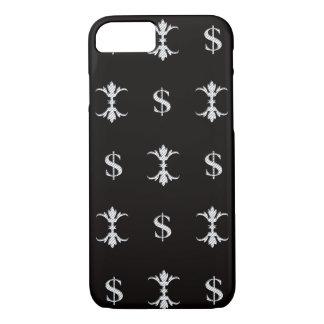 Hip Hop Silver Dollar Bling Royal iPhone 8/7 Case