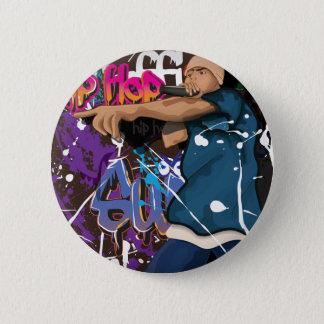 hip hop singer 6 cm round badge