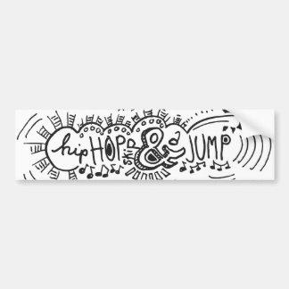 Hip Hop Skip Jump 1 Car Bumper Sticker