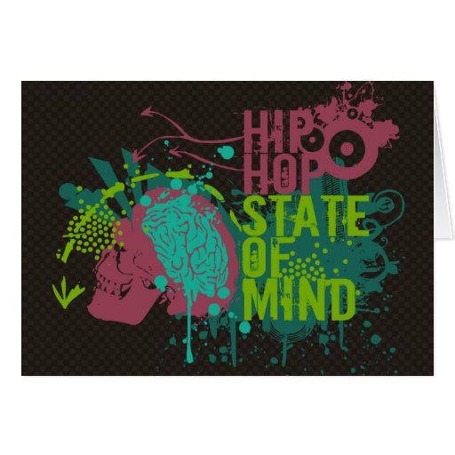 Hip Hop State of Mind Greeting Cards