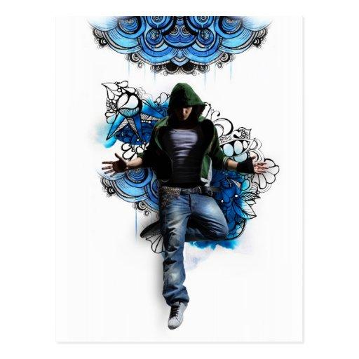 Hip hop to dancer postcard