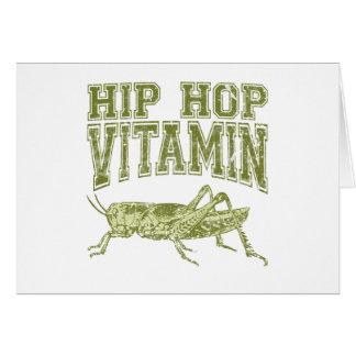 Hip Hop Vitamin Card