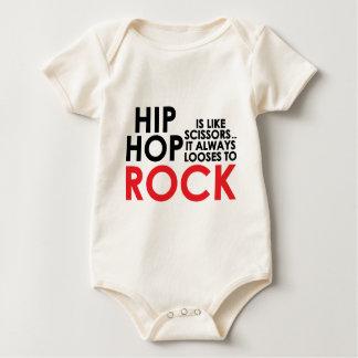 Hip Hop Vs Rock Baby Bodysuit