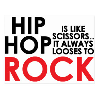 Hip Hop Vs Rock Postcard