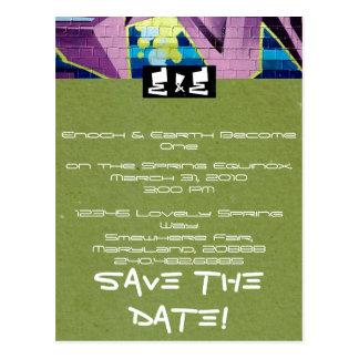 Hip-Hop Wedding Invitation Postcard