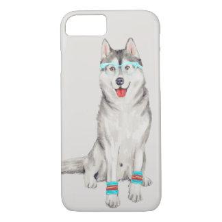Hip Husky (Background Color Editable) iPhone 8/7 Case