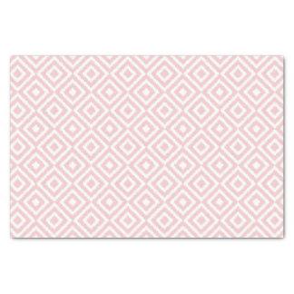Hip Light Pink Ikat Diamond Squares Mosaic Pattern Tissue Paper