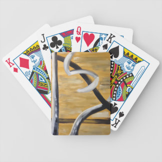Hip Modern Abstract Rustic Southwestern Design Bicycle Playing Cards