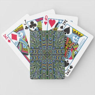 Hip modern Artistic Feathery Pattern Poker Deck