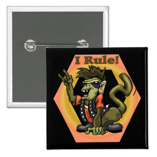Hip Monkeys Rule Funny T-shirts Gifts 15 Cm Square Badge