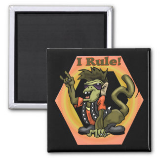 Hip Monkeys Rule Funny T-shirts Gifts Square Magnet