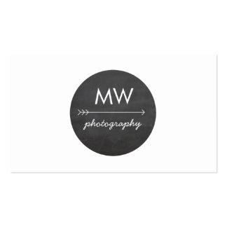 Hip Monogram Arrow Chalkboard Circle Business Card Templates