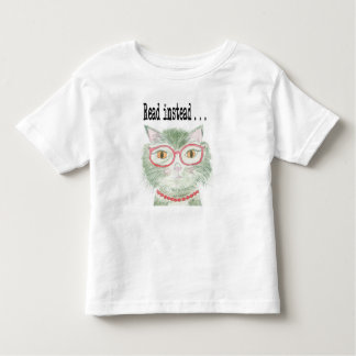 Hip reading kitty toddler T-Shirt