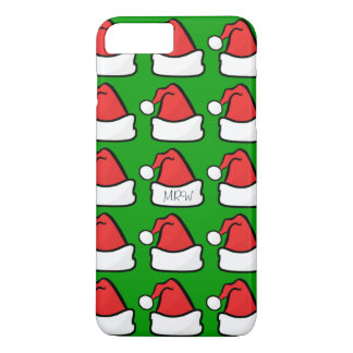Hip Santa Claus Hat Optional Initials Green iPhone 8 Plus/7 Plus Case