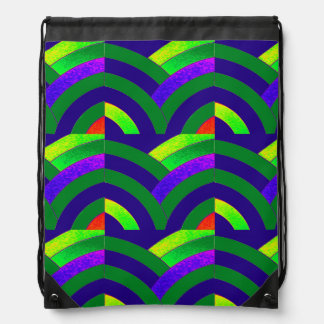 hip sophisticated curved chevron drawstring bags